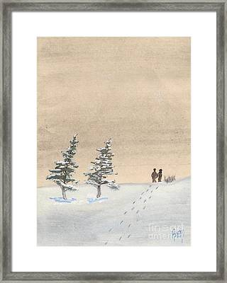Walking Together Framed Print by Robert Meszaros
