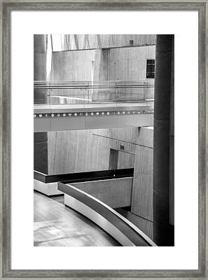 Walkway In The Renaissance Center Framed Print by John McGraw