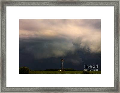 Wall Cloud Framed Print by Francis Lavigne-Theriault