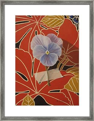 Wall Flower Vi  Framed Print by Sheila Cantrell