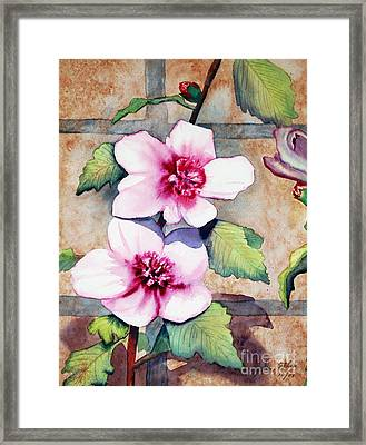 Wall Flowers Framed Print by Flamingo Graphix John Ellis