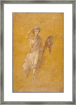 Wall Fragment Of A Muse, 1-75 Ad  Framed Print by Roman School