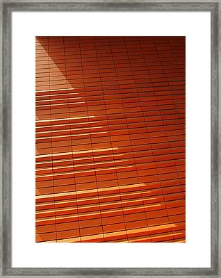 Wall In Shadow Framed Print by Randall Weidner