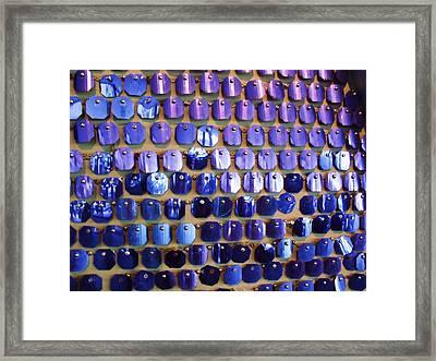 Wall Of Blue Framed Print by Anna Villarreal Garbis