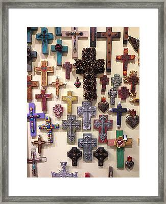 Crucifixes Framed Print by Julio Lopez