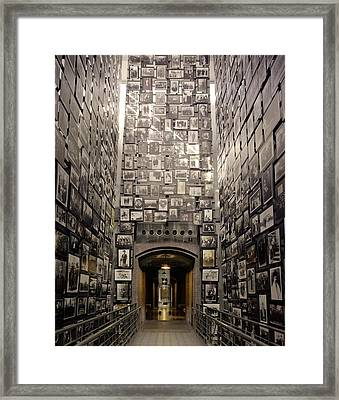 Wall Of Remembrance At The U.s Framed Print by Everett