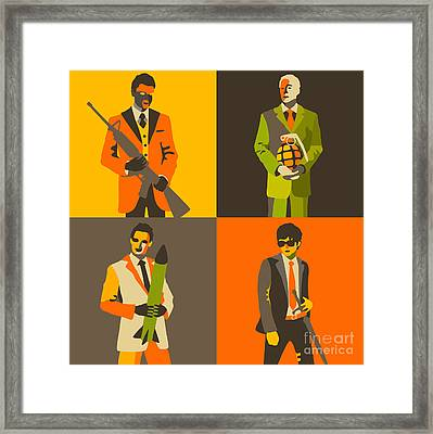 Wall Street Banksters Framed Print by Jazzberry Blue