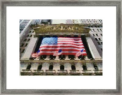 Wall Street Framed Print by George Atsametakis