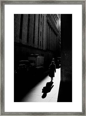 Wall Street In New York City Framed Print by Ilker Goksen