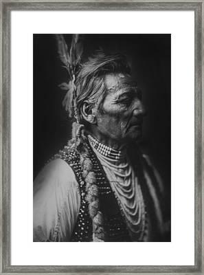 Walla Walla Indian Circa 1905 Framed Print by Aged Pixel