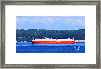 Wallenius Wilhelmsen Logistics Tamerlane Ship Framed Print by Tap On Photo
