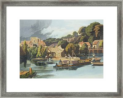 Wallingford Castle In 1810 During Framed Print by William Havell