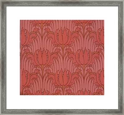 Wallpaper Design Framed Print by Victorian Voysey
