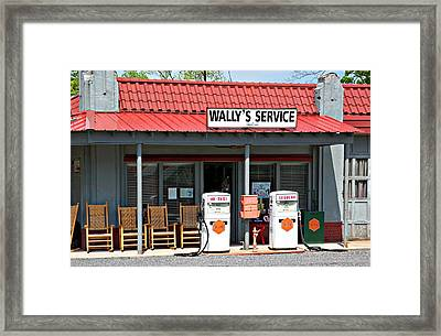 Wally's Service Station Mayberry Nc Framed Print by Bob Pardue