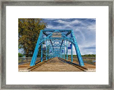 Walnut Street Bridge - 1890 - Chattanooga Framed Print by Frank J Benz