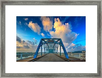 Walnut Street Walking Bridge Framed Print by Steven Llorca