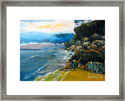Walomwolla Beach Framed Print by Pamela  Meredith