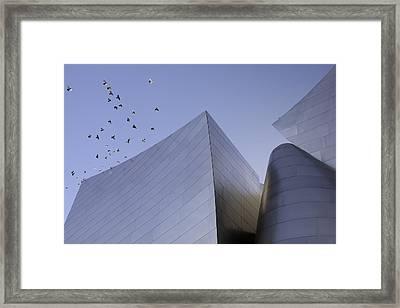 Walt Disney Concert Hall Los Angeles California Architecture Abstract Framed Print by Ram Vasudev