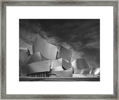 Walt Disney Concert Hall Framed Print by Georgia Fowler