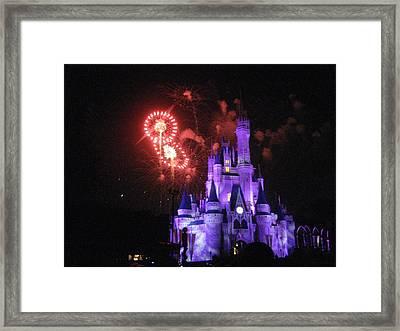 Walt Disney World Resort - Magic Kingdom - 121239 Framed Print by DC Photographer