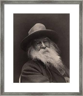 Walt Whitman 1886 Framed Print by Mountain Dreams