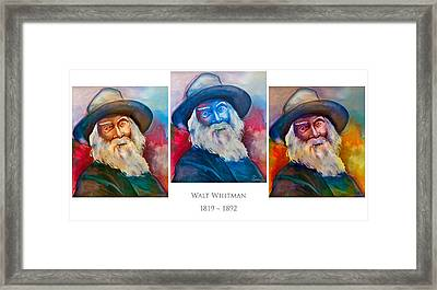 Walt Whitman Poster Framed Print by Robert Lacy