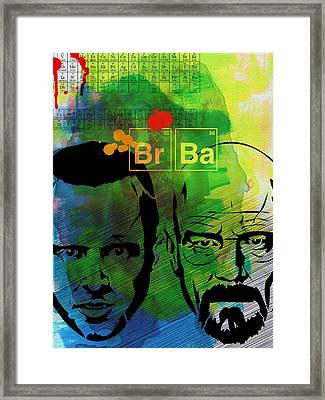 Walter And Jesse Watercolor Framed Print by Naxart Studio