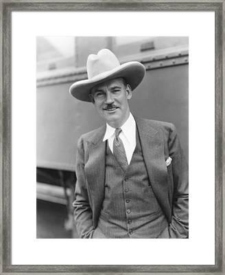 Walter Huston, Ca. Early 1930s Framed Print by Everett