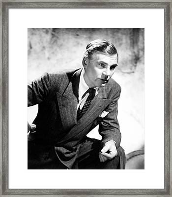 Walter Huston, Ca. Mid-1940s Framed Print by Everett