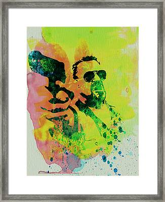 Walter Framed Print by Naxart Studio