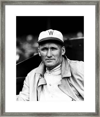 Walter P. Johnson With Coat On  Framed Print by Retro Images Archive