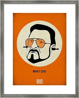Walter Sobchak Poster Framed Print by Naxart Studio