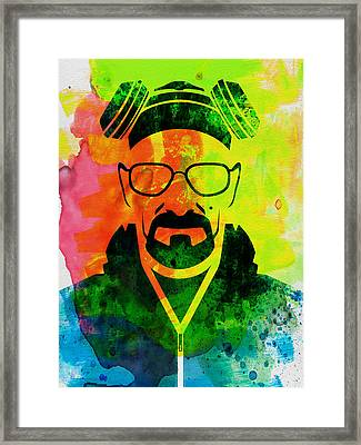 Walter Watercolor Framed Print by Naxart Studio