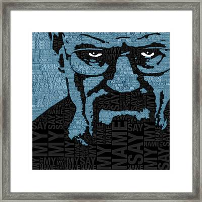 Walter White Heisenberg Breaking Bad Framed Print by Tony Rubino