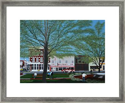 Walton's 5 And 10 Framed Print by Clinton Cheatham