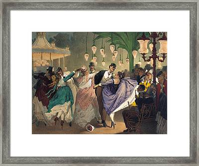 Waltz At The Bal Mabille  Framed Print by Philippe Jacques Linder