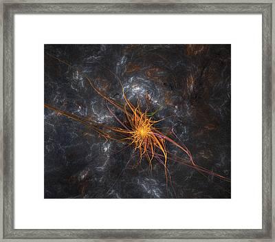 Wandering In Space Framed Print by Bijan Studio