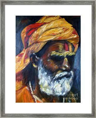 Wandering Sage Framed Print by Mukta Gupta