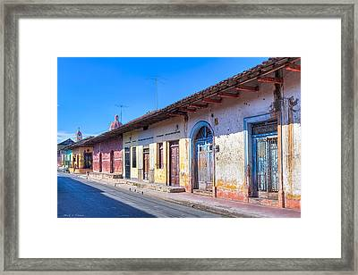 Wandering The Colorful Streets Of Granada Framed Print by Mark E Tisdale