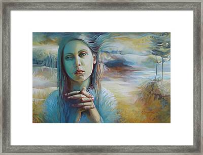 Wandering With Thoughts Framed Print by Elena Oleniuc
