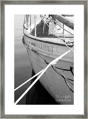 Wanderlust Black And White Framed Print by Amanda Barcon