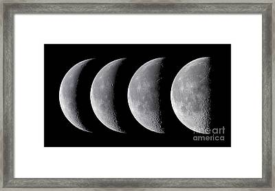 Waning Moon Series Framed Print by Alan Dyer