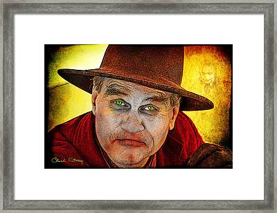 Wanna Be Friends? Framed Print by Chuck Staley
