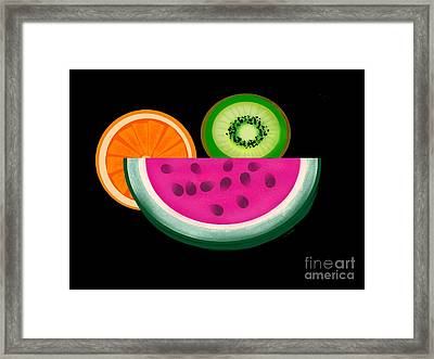 Want A Slice? Framed Print by Christine Fournier