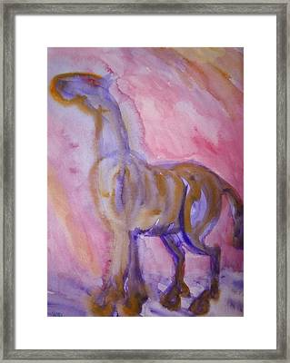 I Want My Wings Back Even Though They Are Burned  Framed Print by Hilde Widerberg
