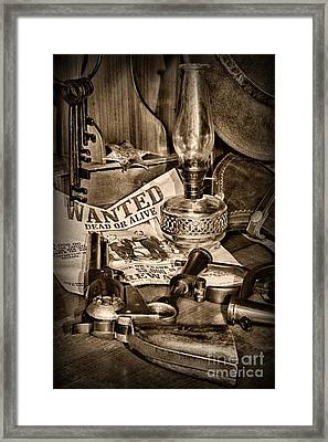 Wanted Dead Or Alive Framed Print by Paul Ward