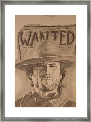 Wanted Framed Print by Michael McGrath