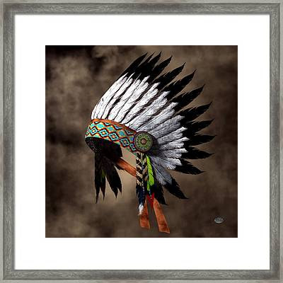 War Bonnet Framed Print by Daniel Eskridge