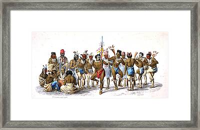 War Dance Of The Sauks And Foxes  Framed Print by Unknown