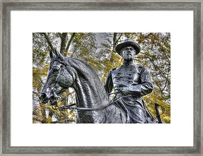 War Horses Maj Gen John F Reynolds Commander 1st-3rd-11th Corps Army Of The Potomac Killed In Action Framed Print by Michael Mazaika